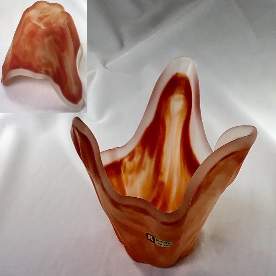 KURATAクラフトグラスガラス花瓶R6298