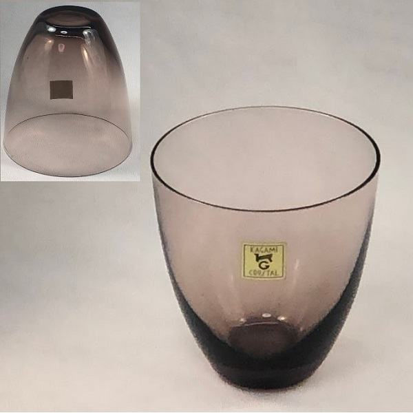 カガミクリスタル紫ガラスコップR6459