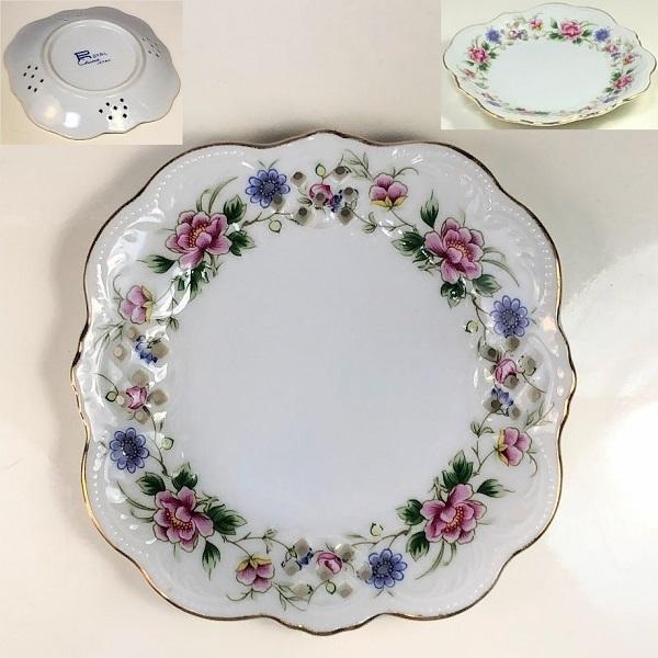 花柄角小皿R6589