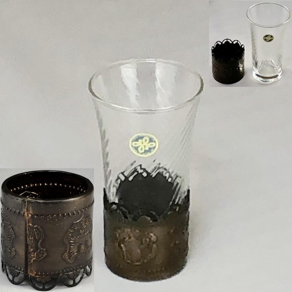 昭和レトロガラスコップR6355