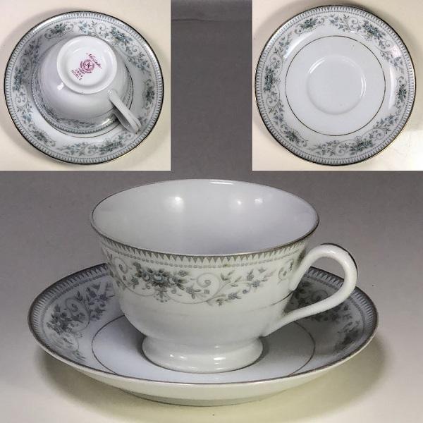 ノリタケノーブルNOBLEカップ&ソーサーR6595