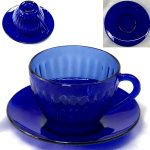 青ガラスカップ&ソーサーR6477
