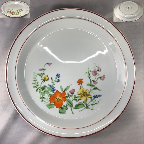 昭和レトロ花柄29cmプレートR6480