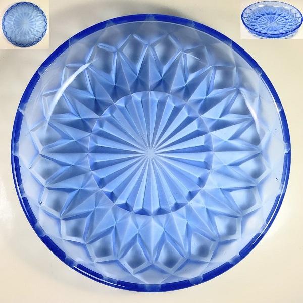 青ガラス22.5cmプレートR6600