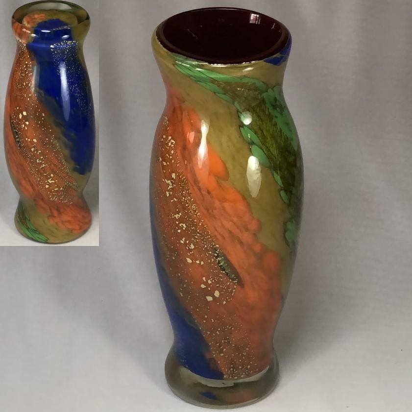 昭和レトロガラス花瓶W6362