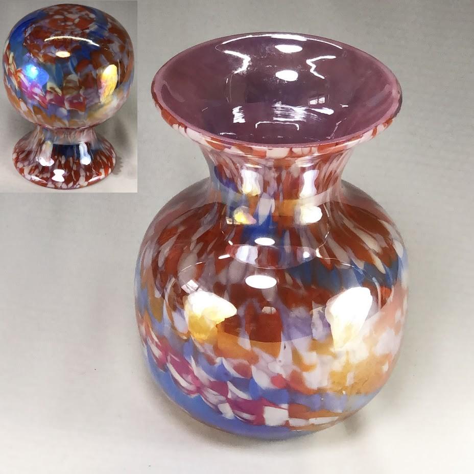 昭和レトロガラス花瓶R6366