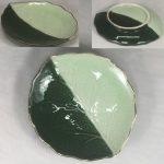 昭和レトロ葉型小皿