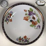 花柄カレー皿R6619