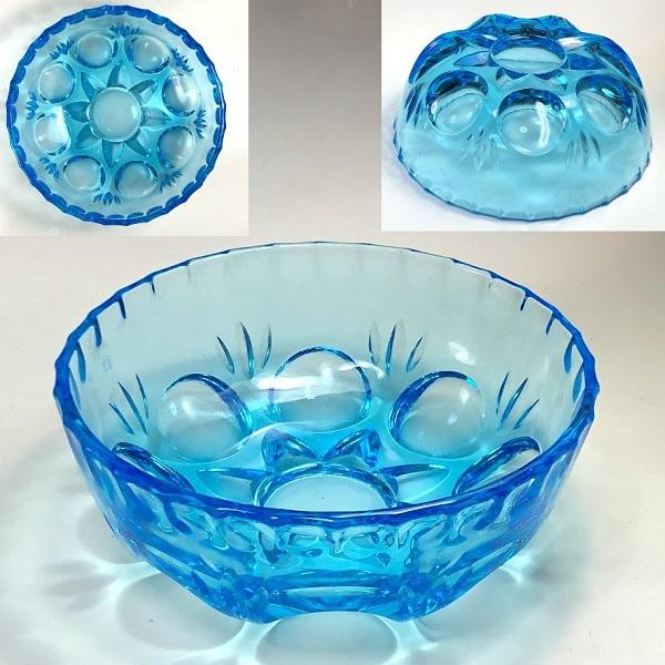 青ガラス小鉢R7242