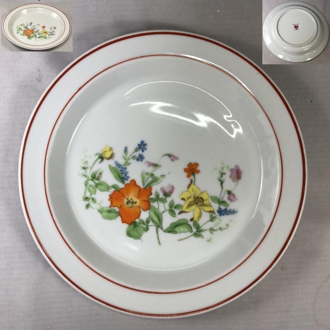 昭和レトロ花柄20cmプレートR6490