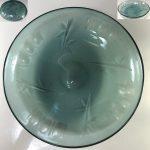 緑ガラス浅鉢ボウルR6624