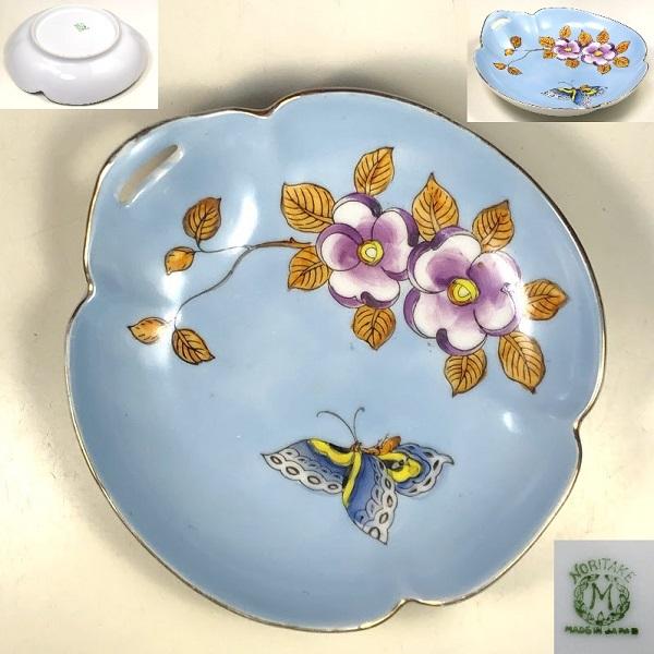 オールドノリタケ花蝶小鉢