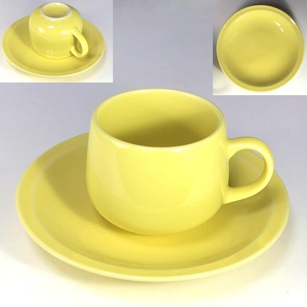 クリームイエローカップ&ソーサー