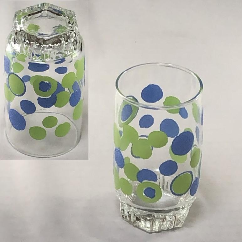 昭和レトロガラスコップR6375