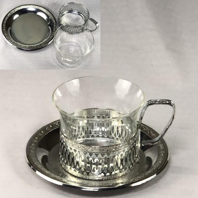 昭和レトロガラスカップ&ソーサーR6377